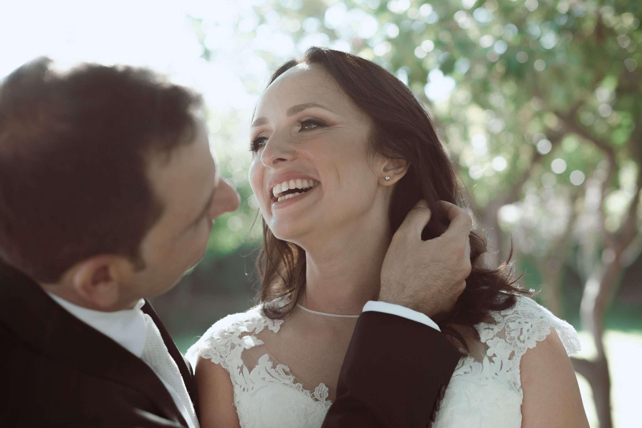 Fotografia sorriso sposa wedding reportage realizzata da Barbara Trincone fotografa con studio a Pozzuoli - Napoli