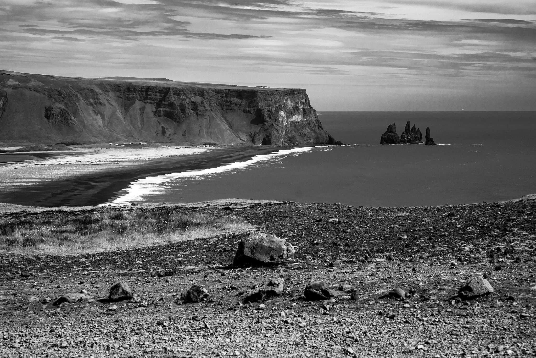 Fotografia paesaggio islanda spiaggia nera realizzata da Barbara Trincone, fotografa professionista paesaggista e di reportage con studio privato a Pozzuoli Napoli