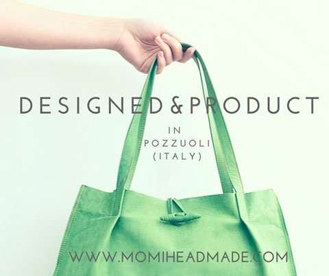 Pubblicità borsa verde momi headmade di Barbara Trincone fotografa con studio a Pozzuoli Napoli che realizza foto per pubblicità, Advertising, ADV e foto commerciali in genere nei settori moda / Fashion, Still life e Food