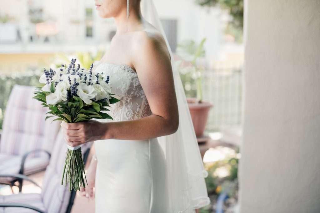 Fotografia dettaglio bouquet sposa