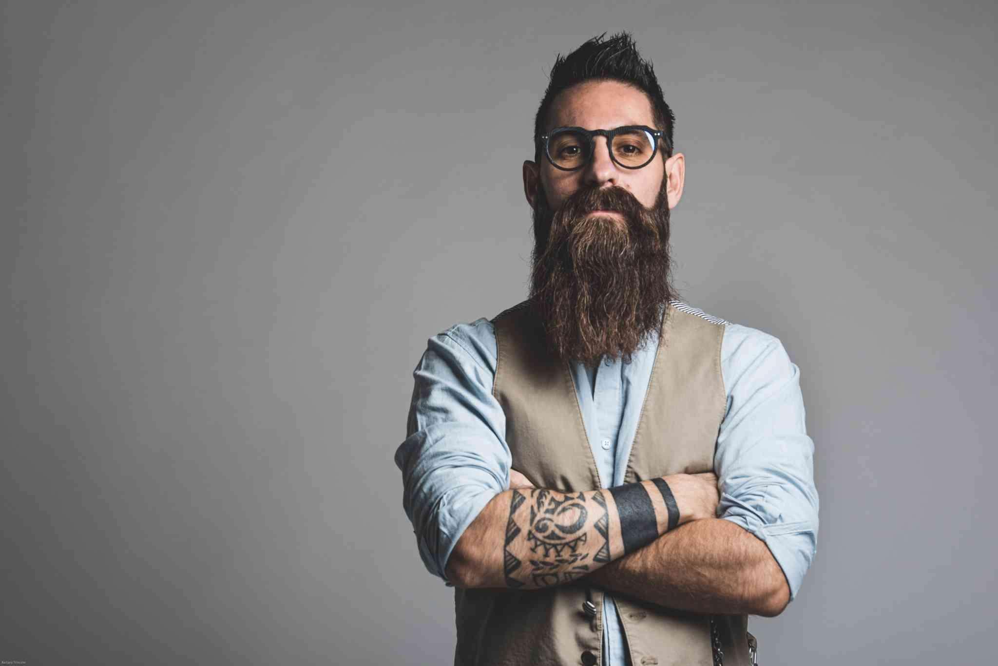 Fotografia istituzionale ragazzo con barba